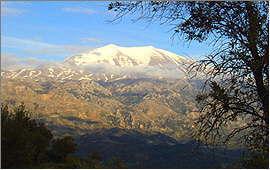 Amari-Tal: Blick von Meronas auf das Ida-Gebirge
